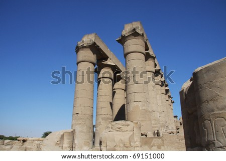 Main hall columns, Luxor Temple Egypt