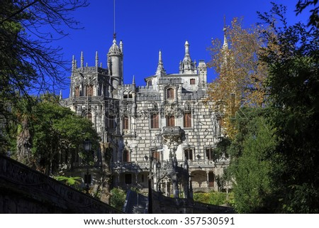 Main house of Quinta da Regaleira, Sintra, Portugal