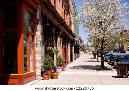 main street - stock photo