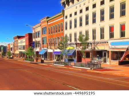 Small Town America Stock Images Royalty Free Images