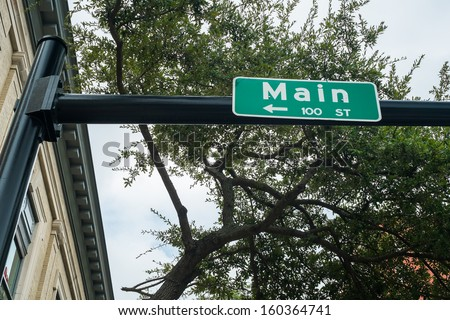 Main street in downtown Jacksonville, Florida. - stock photo