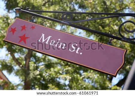 MAIN STREET sign - stock photo