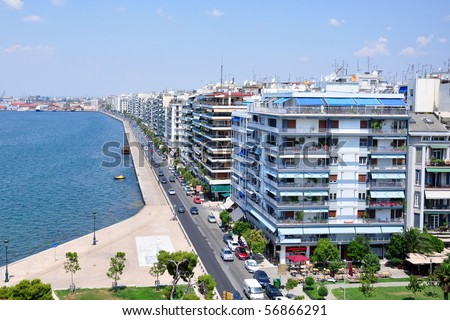 Main view on Thessaloniki, Greece - stock photo