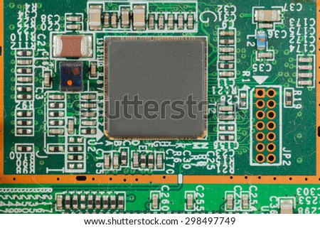 mainboard computer - stock photo