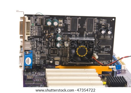 Mainboard isolated on whitebackground