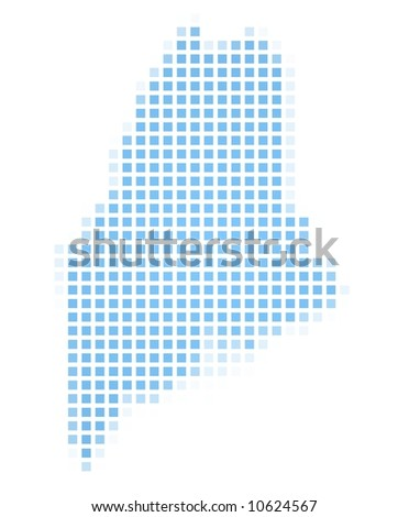 Map Maine Usa Mercator Projection Stock Illustration - Maine us map