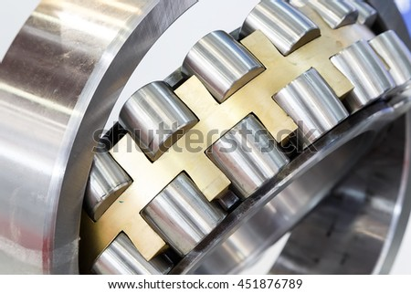 Maintenance of a large ball bearing wheels.
