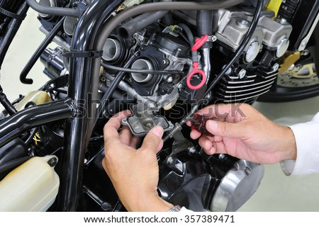 Maintenance of motor cycle
