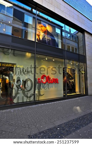 MAINZ, GERMANY - FEB 07:s. Oliver store on February 07,2015 in Mainz, Germany.
