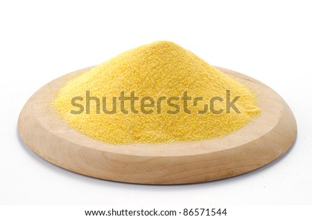 Maize flour on a cutting board