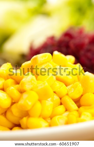 maize on plate - stock photo