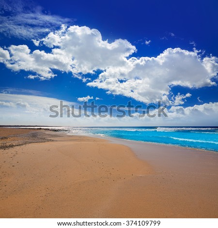 Majanicho beach in Fuerteventura at Canary Islands of Spain