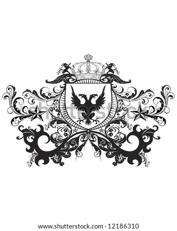 majestic crest image - stock photo