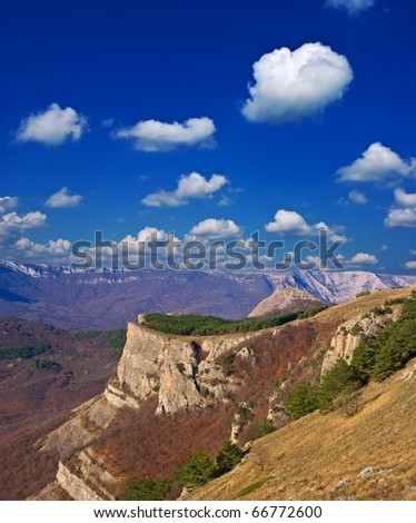 majestic mountain landscape - stock photo