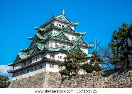 Majestic Nagoya Castle  - stock photo