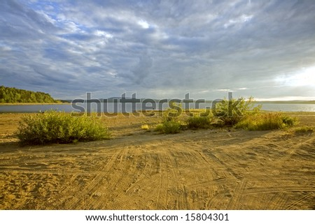majestic sky landscape photo - stock photo