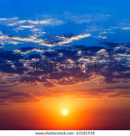 Majestic sunrise - stock photo