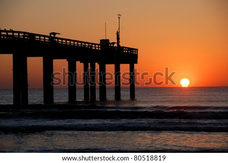 Majestic sunrise just over the horizon at St. Augustine Beach Florida