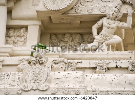 Majestic Temple Carvings of an old Temple in Kanchepuram (circa 7th century AD)