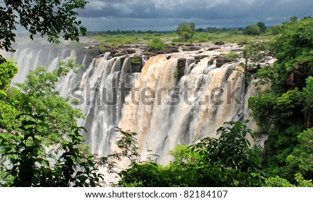 majestic view with Victoria falls(South Africa) - stock photo
