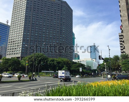 Makati, Philippines - July 19, 2015 : Makati city, Manila. Makati is the financial center of the Philippines
