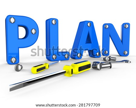 Make A Plan Showing Agenda Planning And System - stock photo