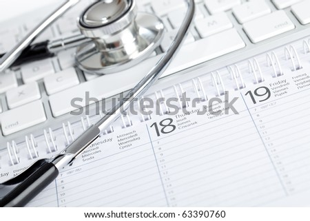 make an appointment with your doctor - stock photo