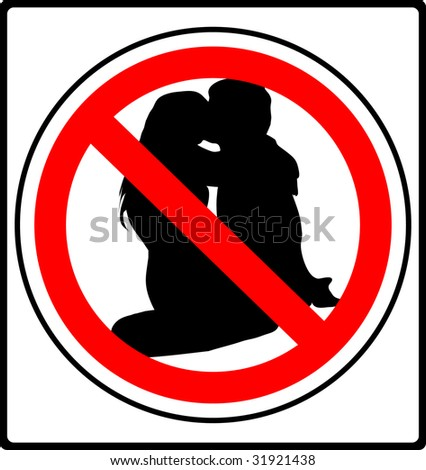 make love prohibited sign illustration