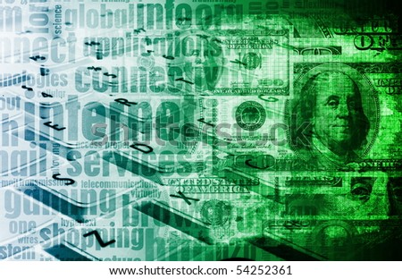 Make Money Online Concept as a Background - stock photo