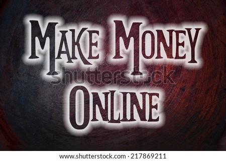 Make Money Online text on background - stock photo