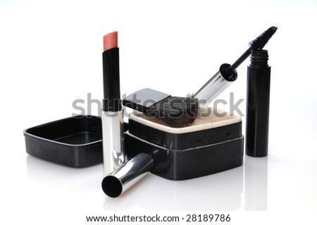 make-up accessories - stock photo