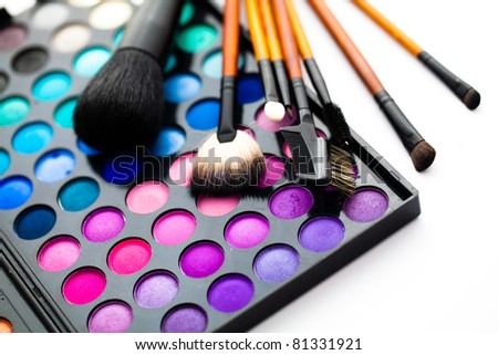 make-up accessories for creative visage - stock photo