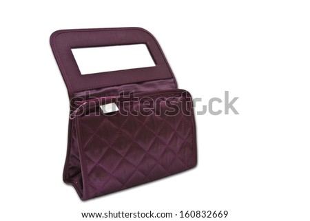 Make up bag isolated with path - stock photo