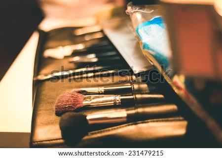 Make up brush - stock photo