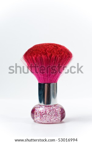 Make-up brush - stock photo