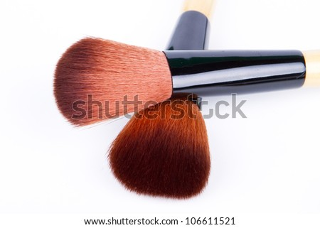 make up brush isolated - stock photo