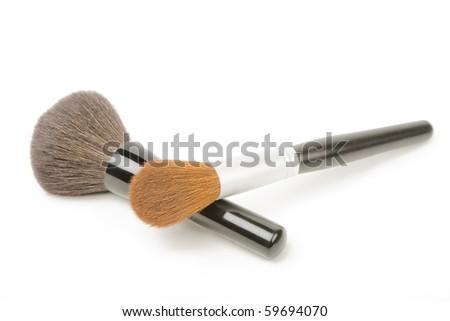 Make up brushes. - stock photo