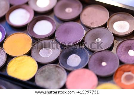 make up collor palette - stock photo