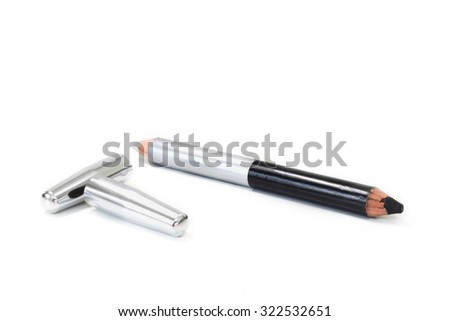 make up Cosmetic pencil isolate on white background