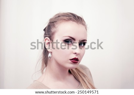 Make up demonstrations - stock photo