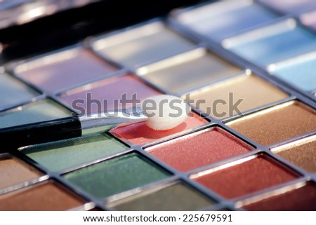 make-up eye shadows - stock photo