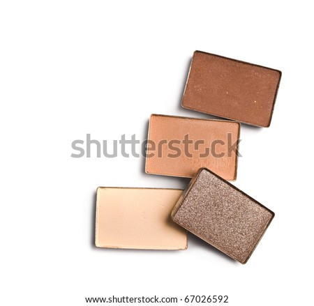 make-up eyeshadows - stock photo