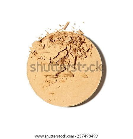 Make-Up Foundation smear - stock photo
