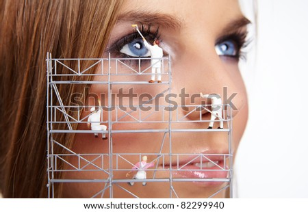 Make up painters - stock photo