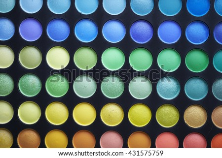 Make up palette - stock photo