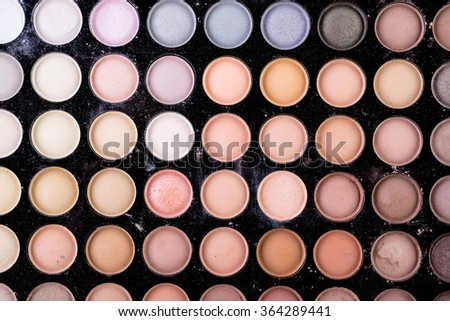 make-up  palette macro - stock photo