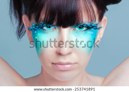 Make Up Portrait - stock photo