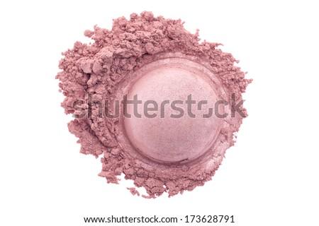 Make up powder isolated on white background - stock photo