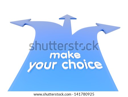 Make your choice. Crossroads. - stock photo