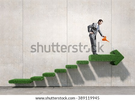 Make your income grow - stock photo